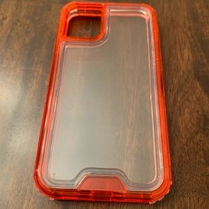 iPhone 11 clear/Red protective case